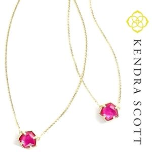 🆕️ Kendra Scott Jaxon Necklace Berry Illusion